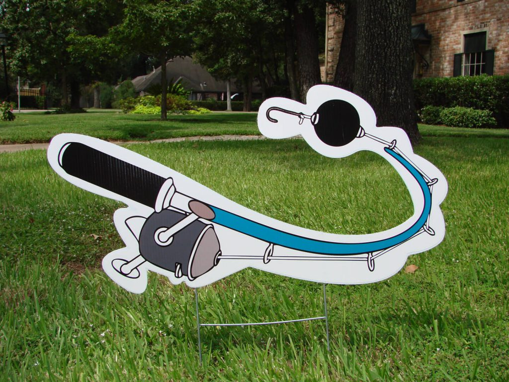 lawn graphic of fishing pole