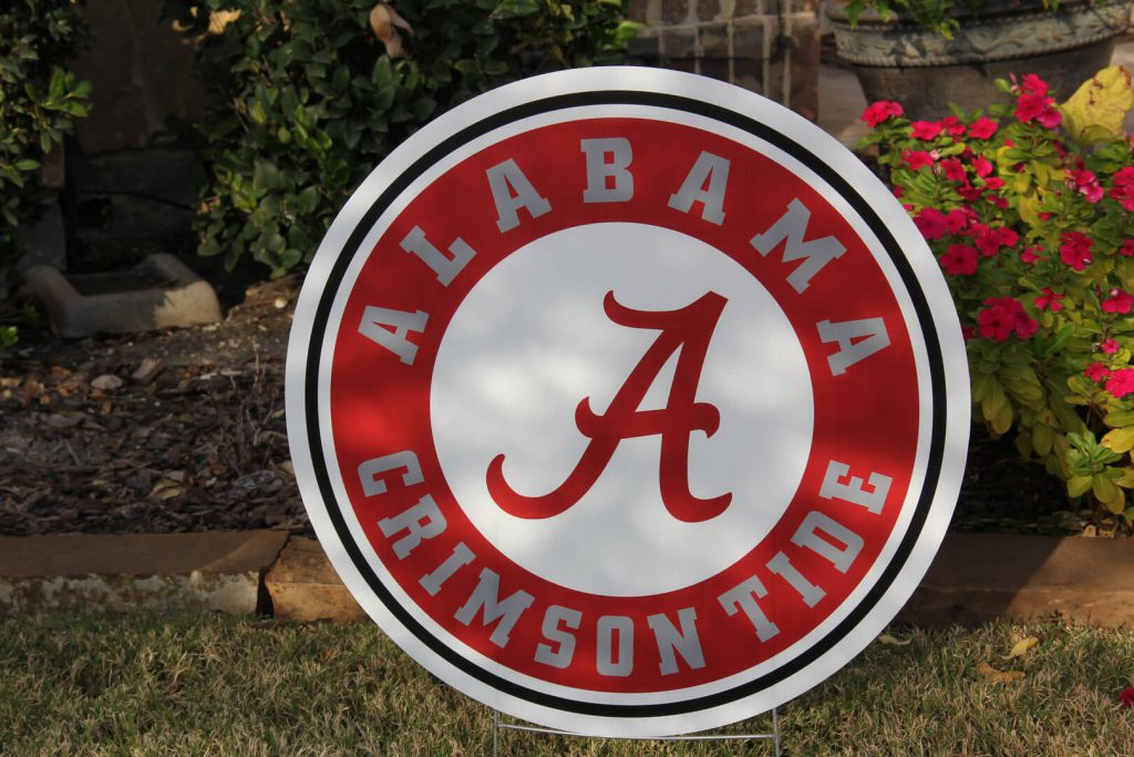 yard graphic of Alabama Crimson Tide