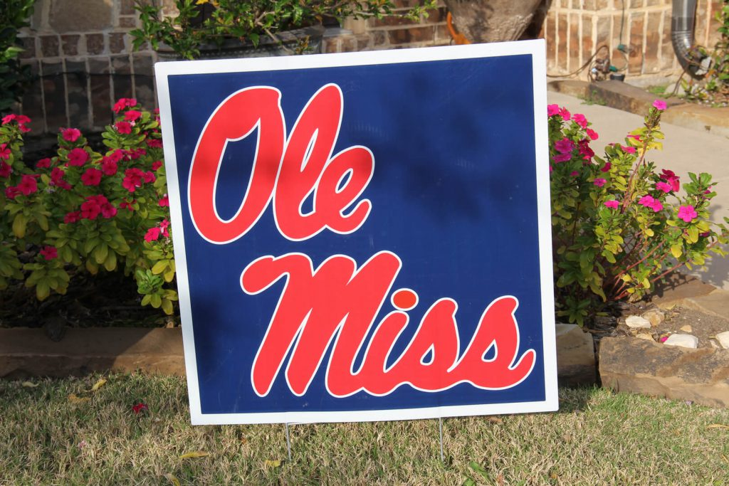 yard sign of Ole Miss