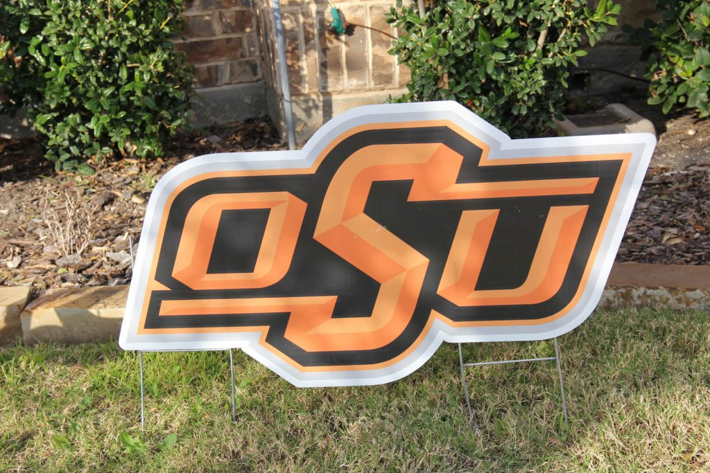 yard sign of OSU