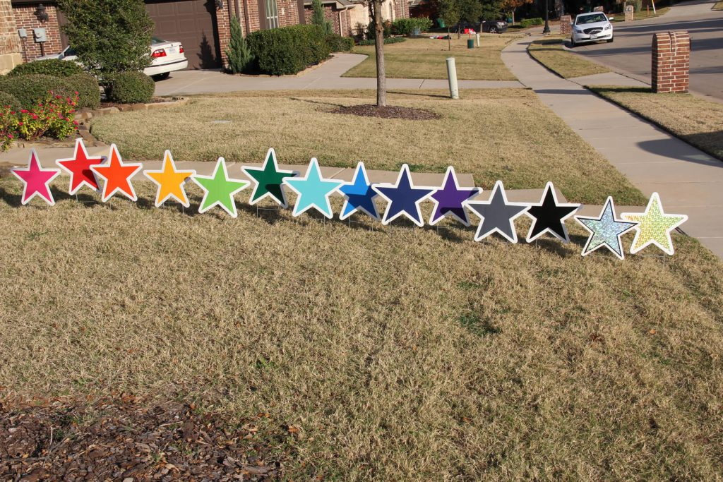 lawn graphics of stars