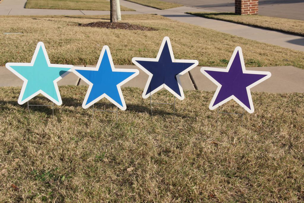 yard signs of stars