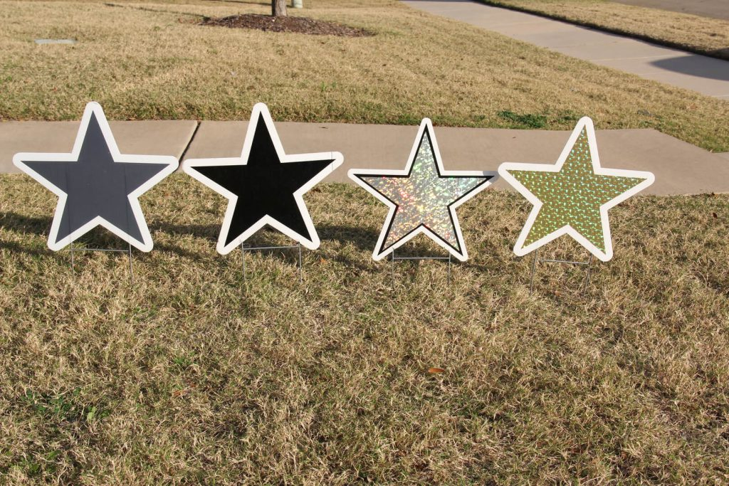yard graphics of stars