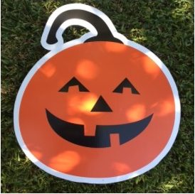 lawn graphic of jack-o-lantern
