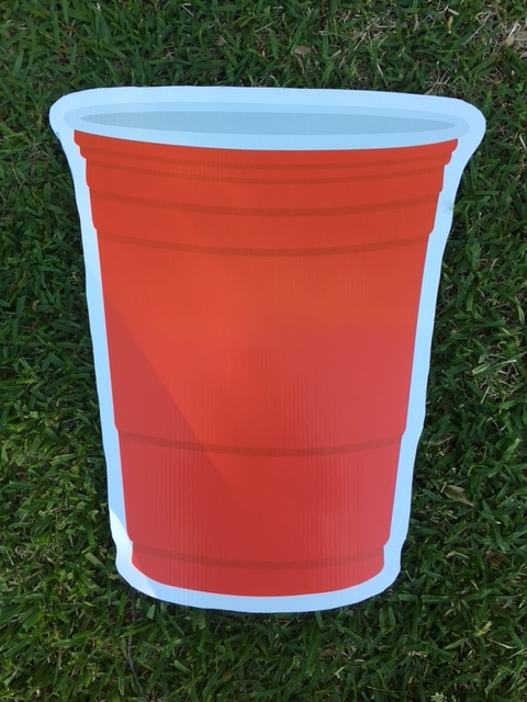 Graphic of red drink cup