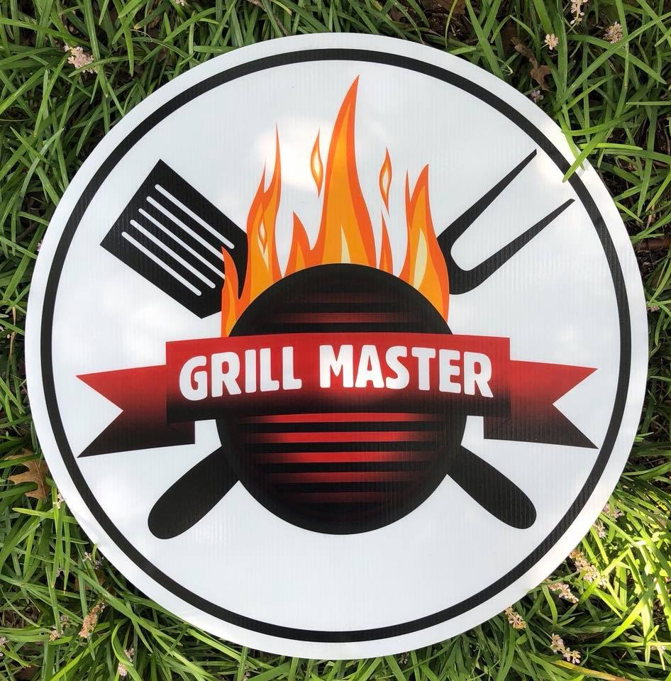 lawn graphic of grill master