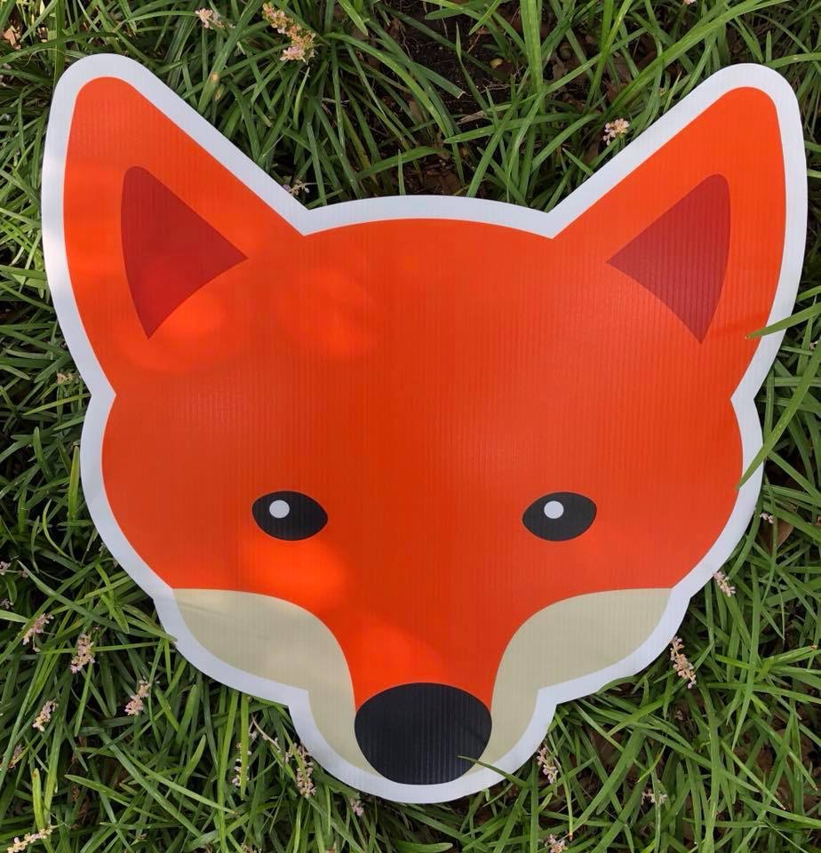 Graphic of fox head