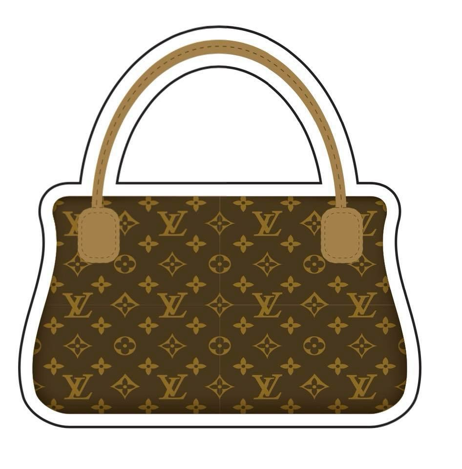 yard sign of Louis Vuitton purse