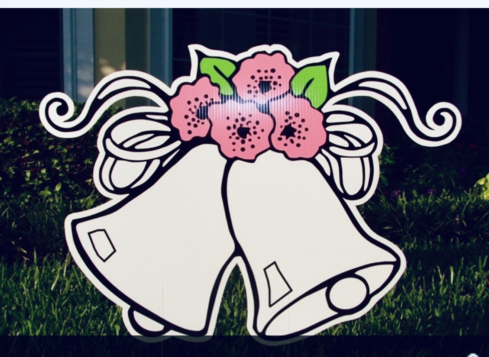 lawn graphic of wedding bells