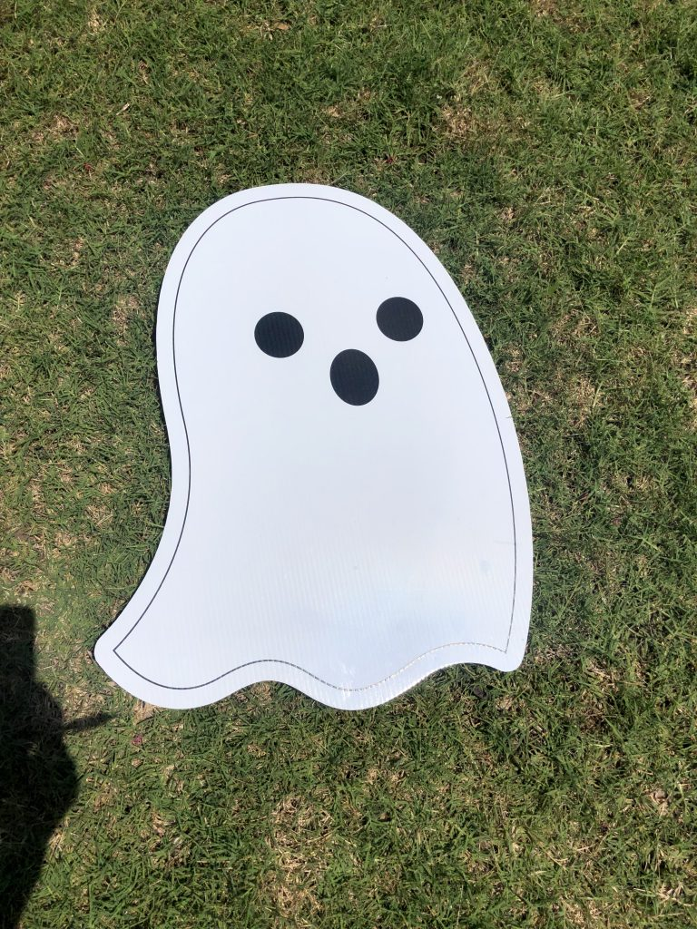 lawn graphic of ghost