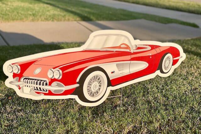 A red 1958 Corvette