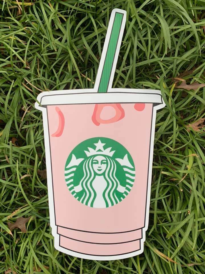 A pink Starbuck's beverage