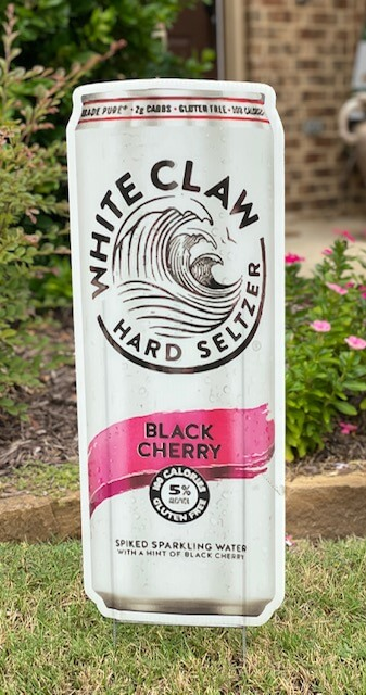 A can of black cherry flavor White Claw