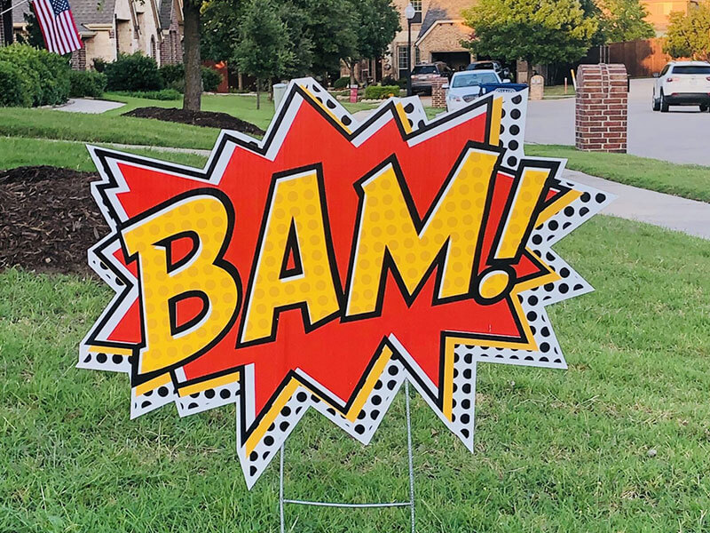 "the word ""BAM!"""