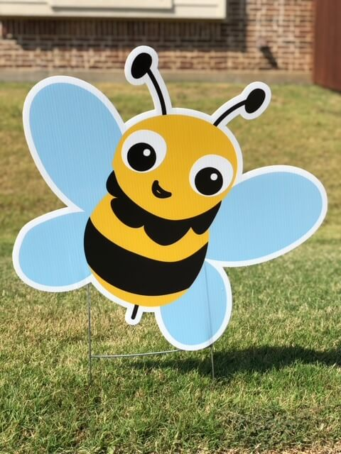 A happy bumble bee