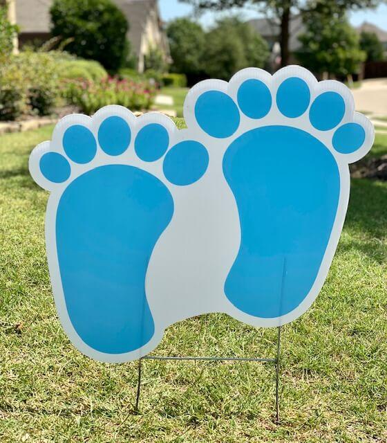 Blue baby feet