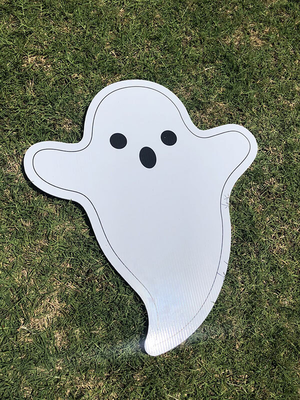 A spooky ghost