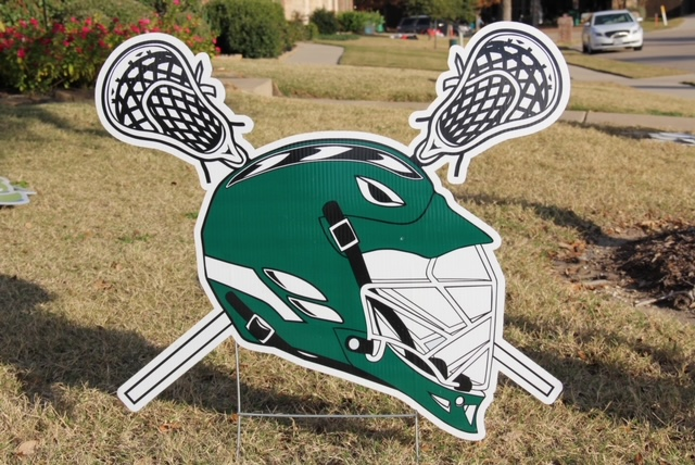 lacrosse helmet and sticks