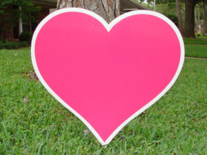 a pink heart