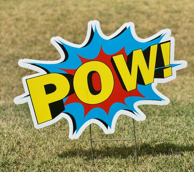 "The word ""POW"" in a splash"