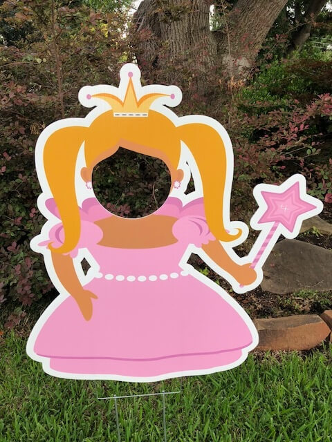 A princess photo stand-in
