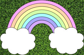 A pastel rainbow