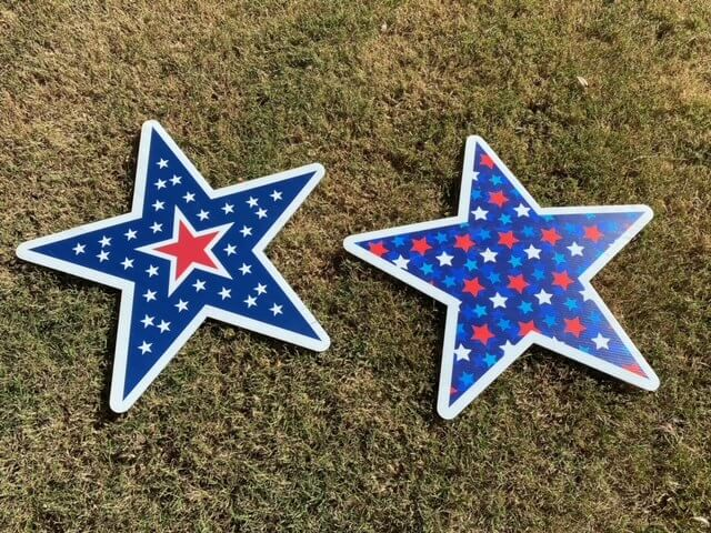 Blue star spangled stars