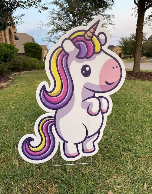 A cute cartoon unicorn