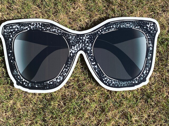 A pair of black sunglasses