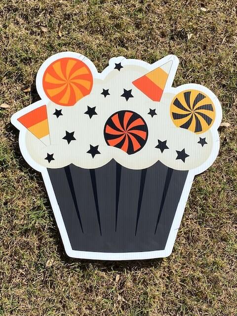 A Halloween cupcake