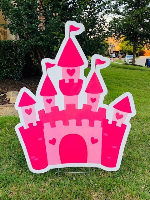 A pink castle