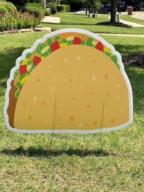 A hard-shell taco