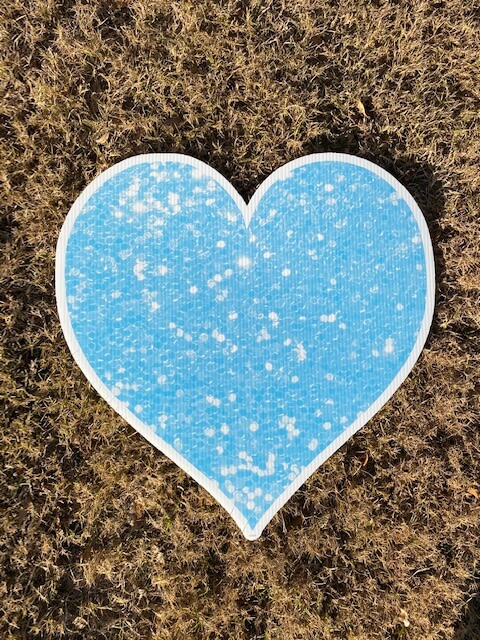 Blue sparkly heart