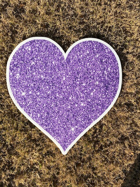 Purple sparkly heart