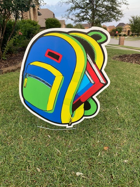 A colorful backpack