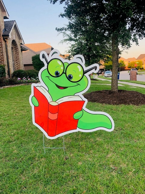 A green bookworm