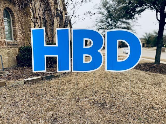 Medium blue letters