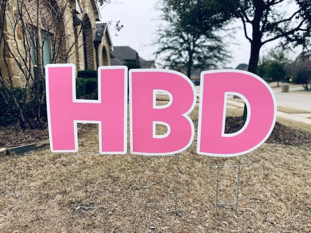 Medium pink letters