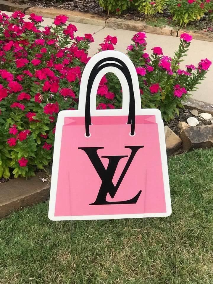 Pink Louie Vuitton bag