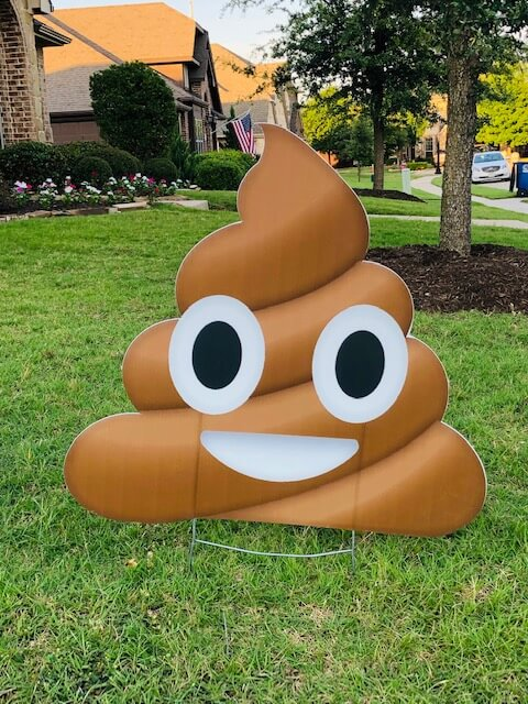 A poop emoji