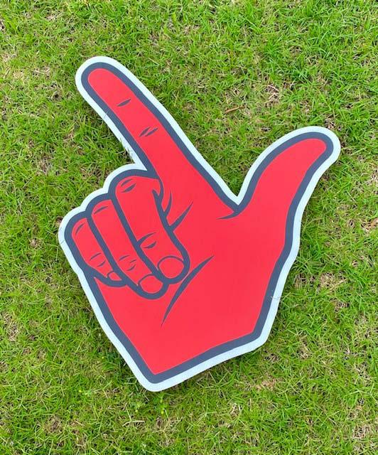 Number 1 finger