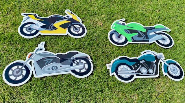 various motorcycles