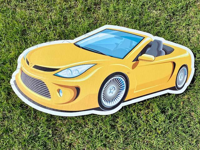 Yellow convertible